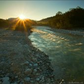 Východ slnka na rieke Belá